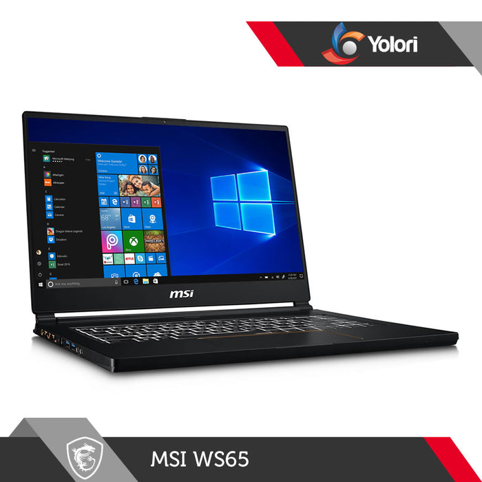 MSI WS65 9TM [Ci7-9750H, 32GB, 1TB, RTX 5000, Windows 10]