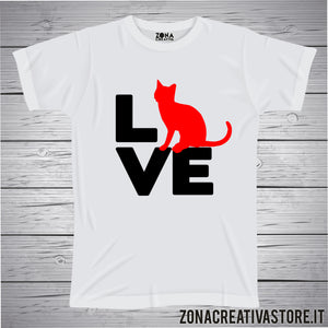T-shirt LOVE GATTO
