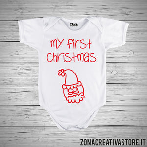 Body neonato MY FIRST CHRISTAMS BABBO NATALE