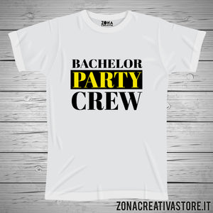 T-shirt addio al celibato e nubilato BACHELOR PARTY CREW