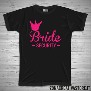 T-shirt addio al nubilato BRIDE SECURITY