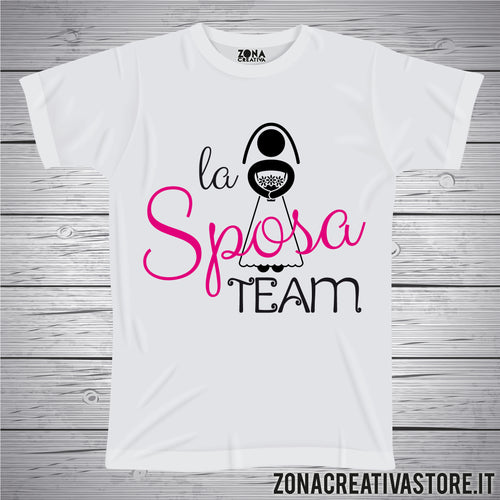 T-shirt addio al nubilato celibato LA SPOSA TEAM