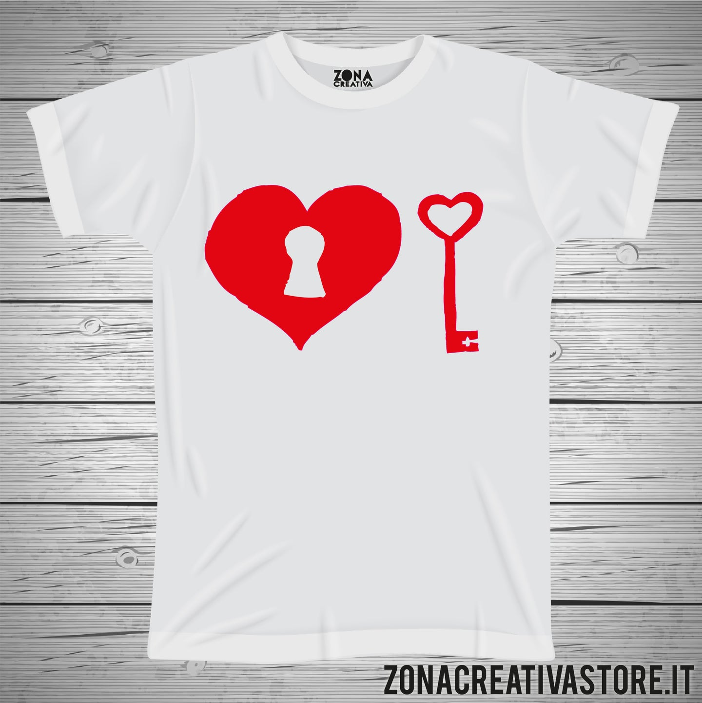 T-shirt CUORE CHIAVE