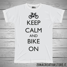 Carica l'immagine nel visualizzatore di Gallery, T-shirt KEEP CALM AND BIKE ON