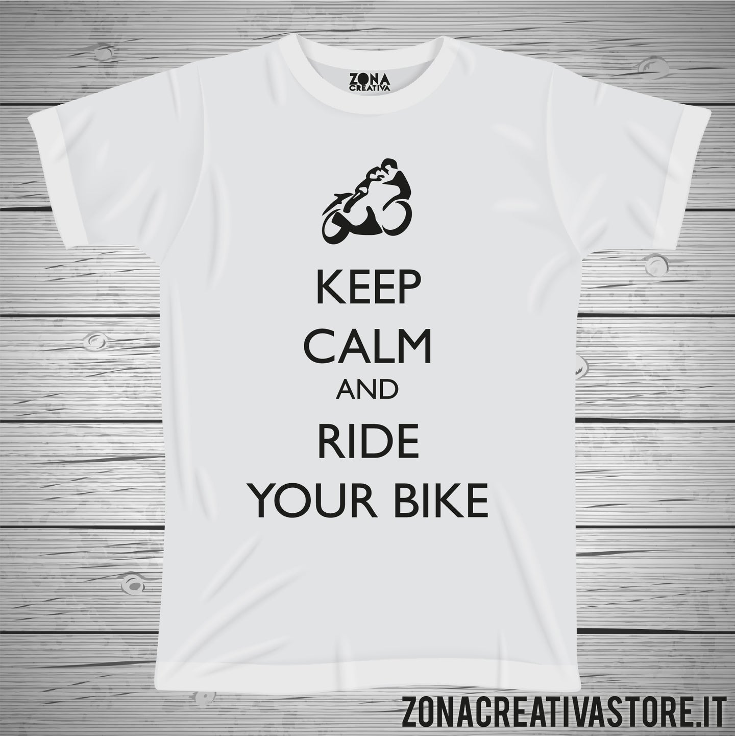 T-shirt KEEP CALM AND RIDE YOUR BIKE