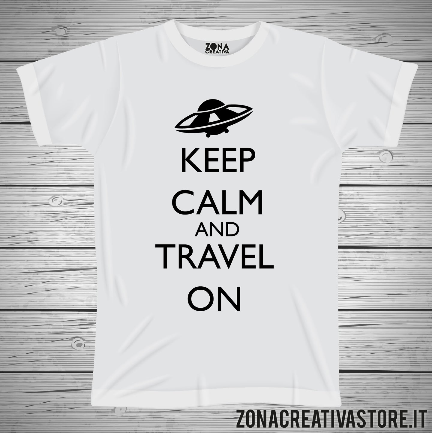 T-shirt KEEP CALM AND TRAVEL ON