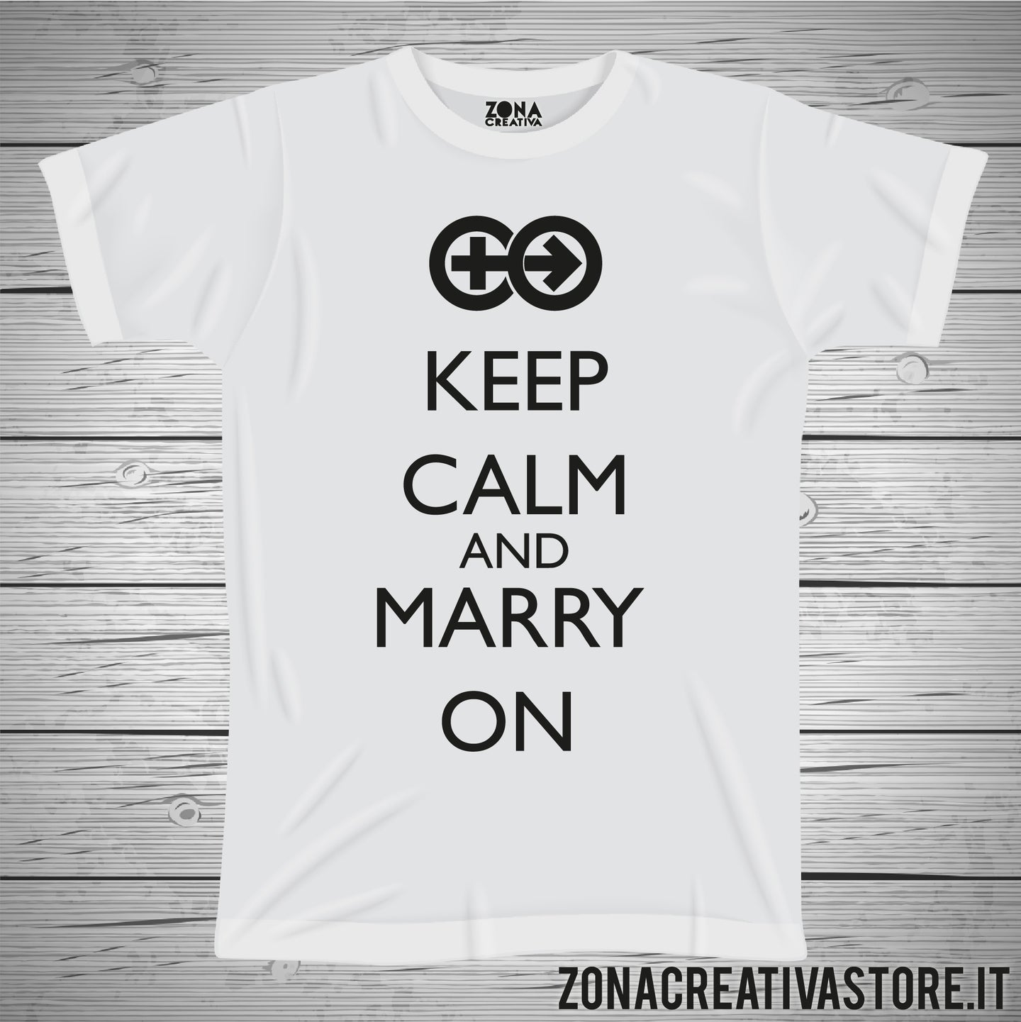 T-shirt KEEP CALM AND MARRY ON