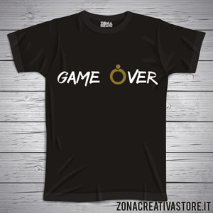 T-shirt addio al nubilato celibato GAME OVER