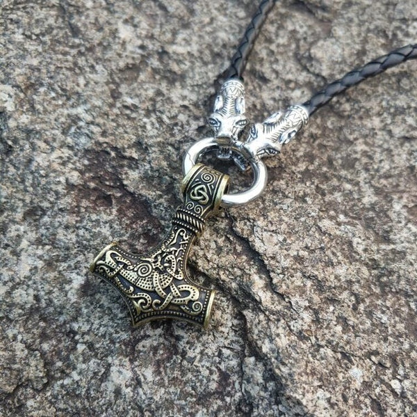 Mjolnir Hammer Pendant Necklace