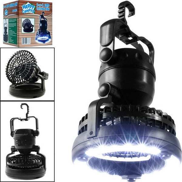 2-in-1 Camping Light & Fan