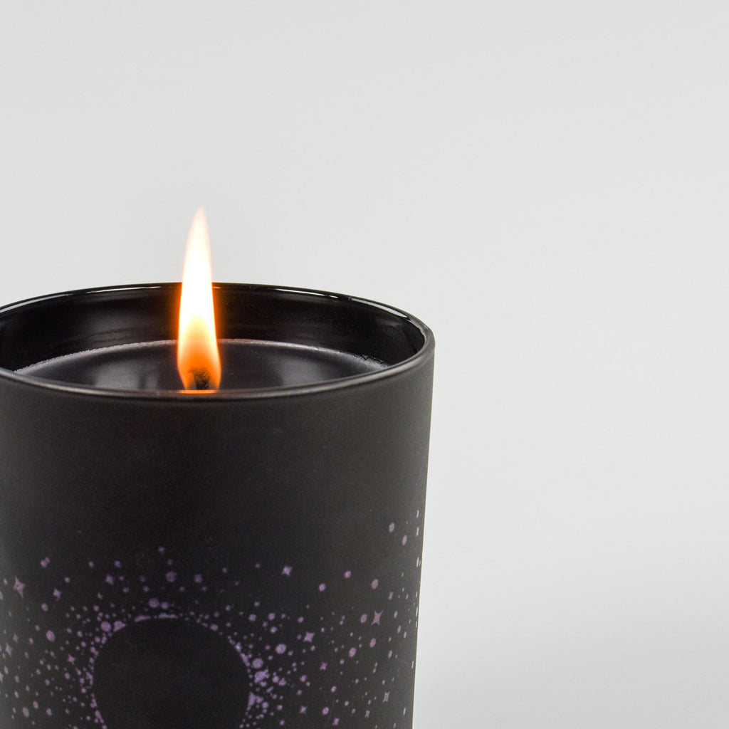Lunarly Buck Moon Candle Detail Shot | 60 hour burn time
