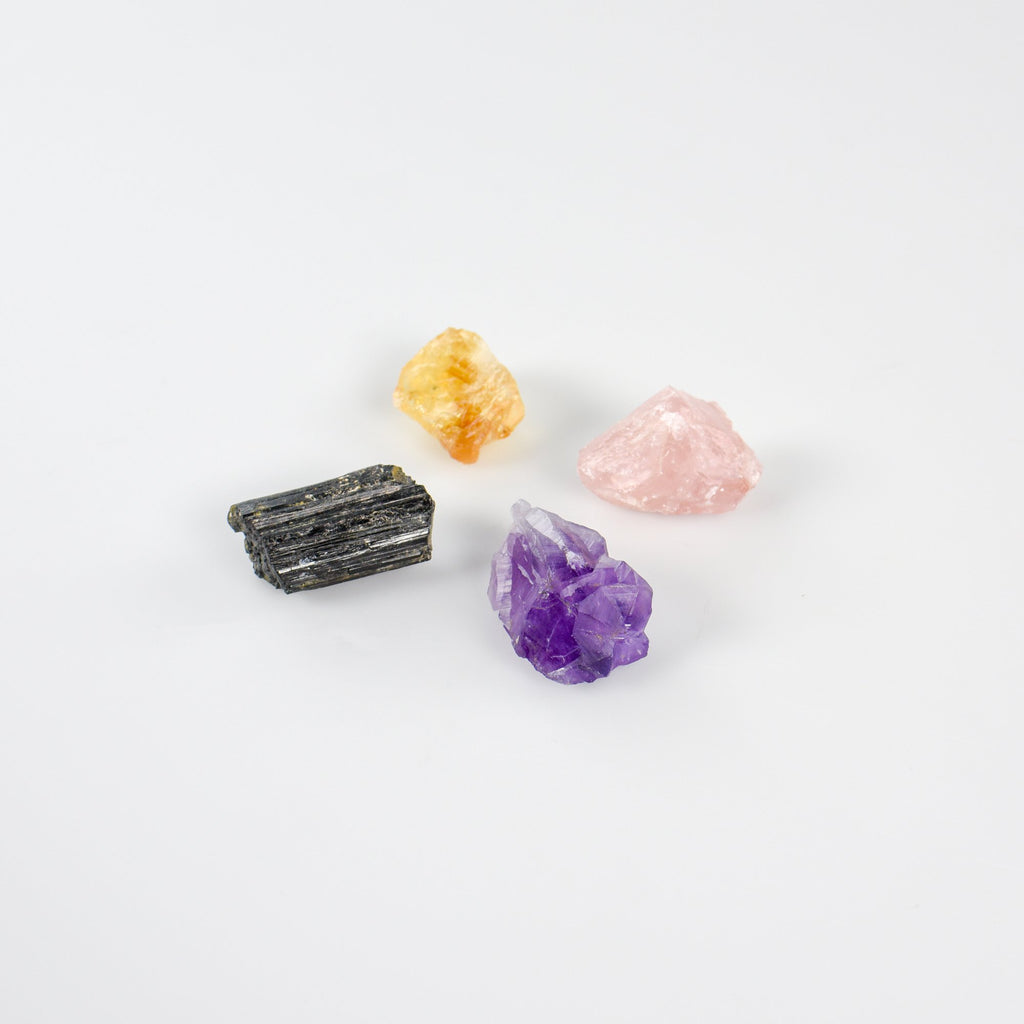 Gemstone pack - black tourmaline | Citrine | Amethyst | Rose Quartz