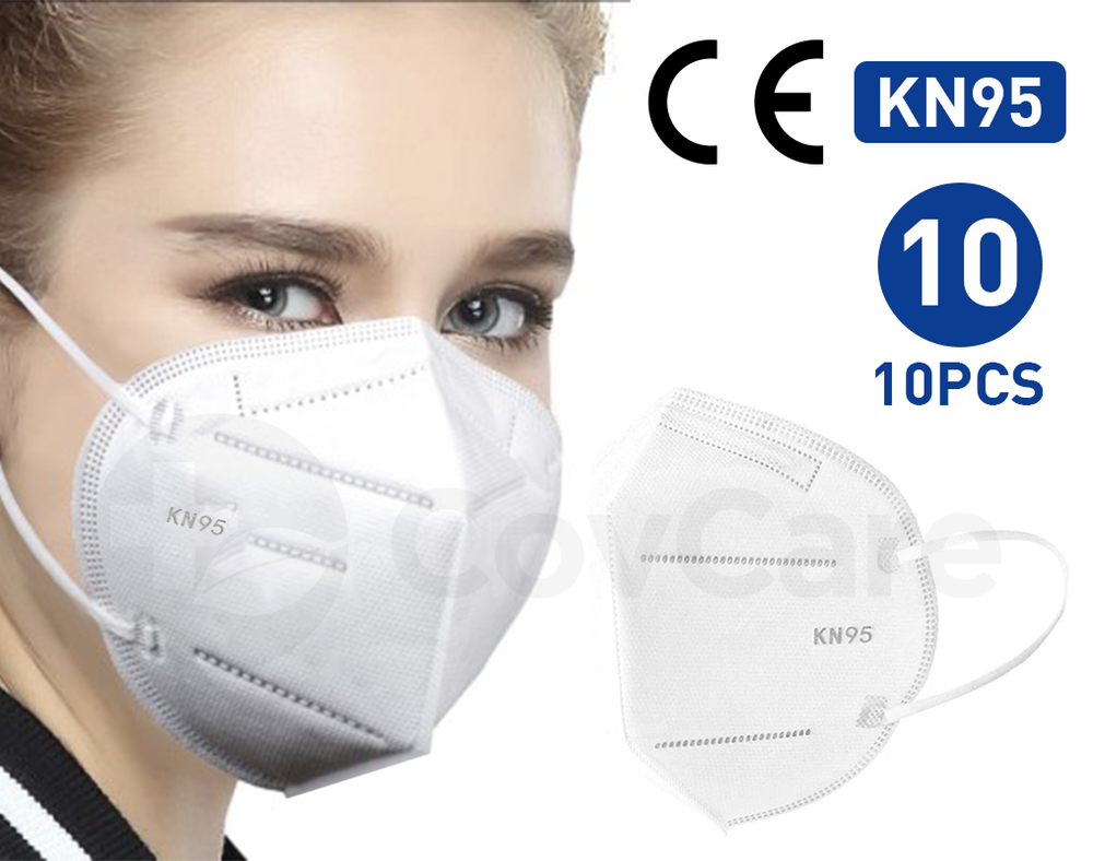 10 PACK: KN95 Certified Respiratory Mask