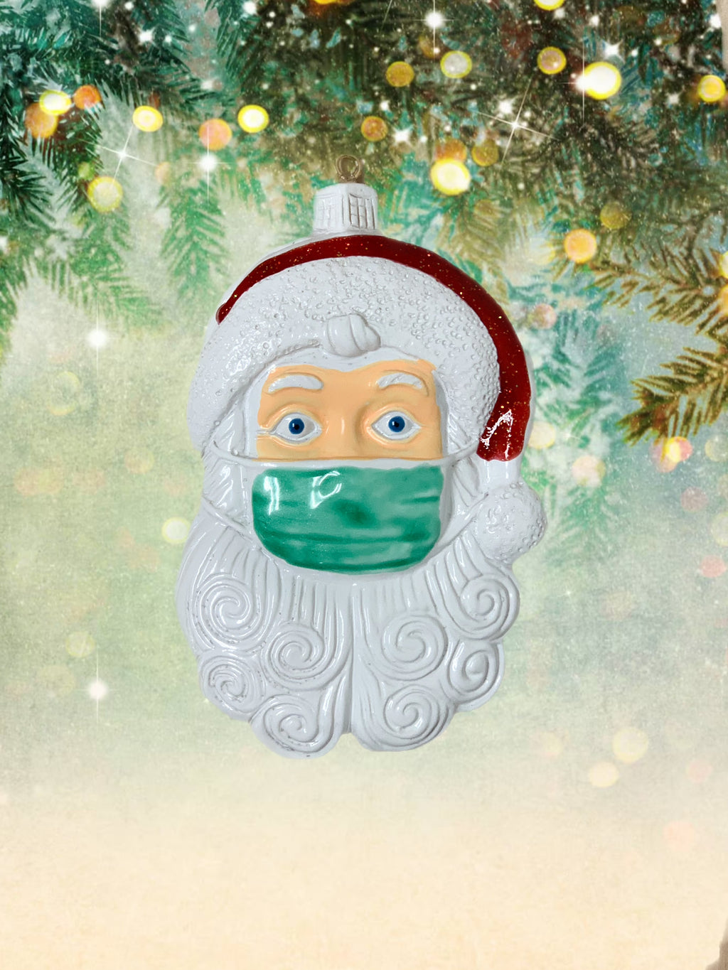 Santa Christmas Facemask Ornament 2020