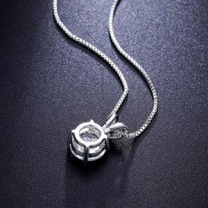 Solitaire Necklace and 4 Prong Earring made With Swarovski® Crystals with Gift Box - 3 Options Available
