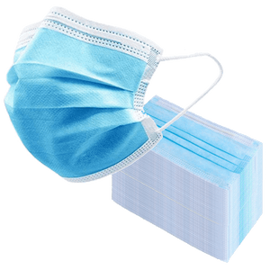 200 PACK: 3-Ply Disposable Face Masks