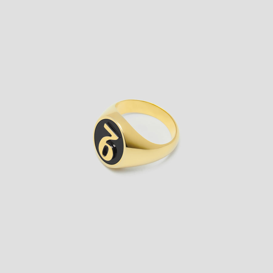 SVNSX Oval in 14k Yellow Gold with Onyx