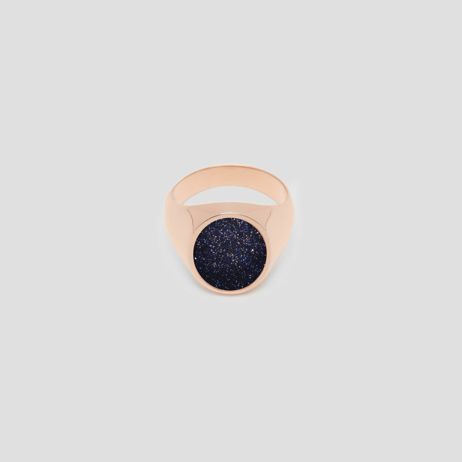 Oval in 14k Rose Gold with Universe Stone