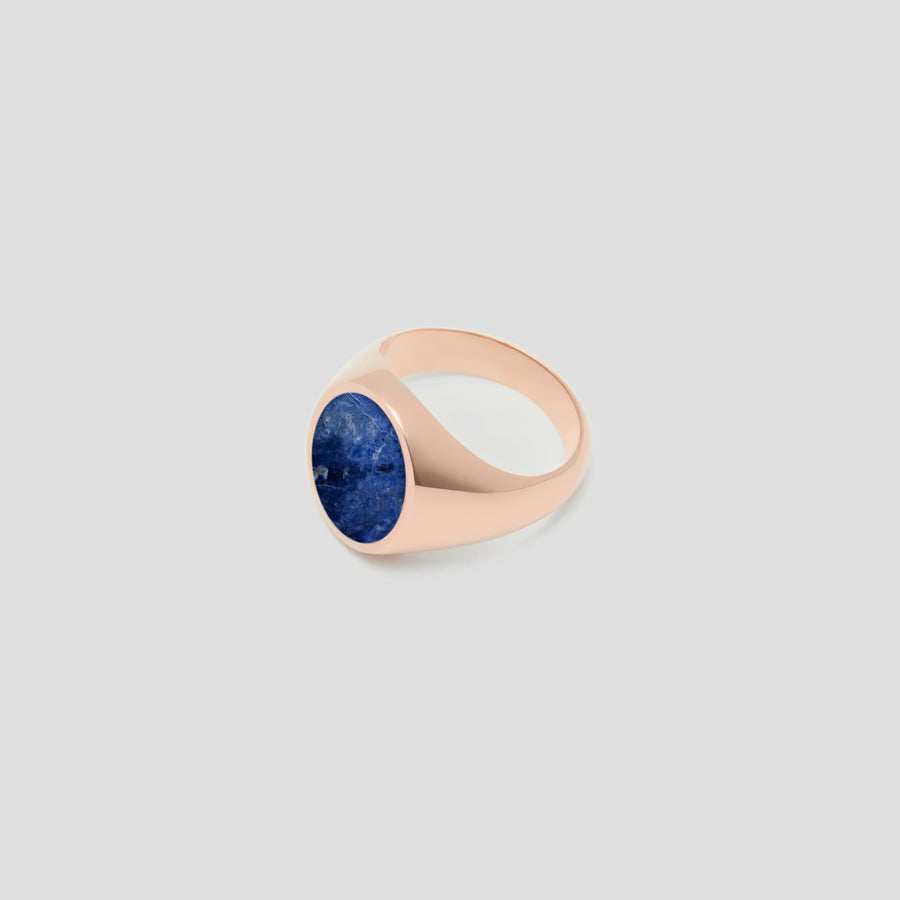 Oval in 14k Rose Gold with Lapis