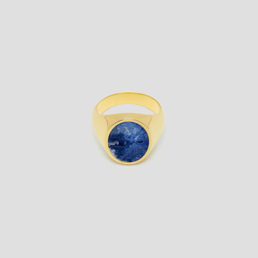 Oval in 14k Yellow Gold with Lapis