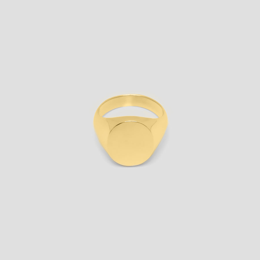 Oval in 14k Yellow Gold