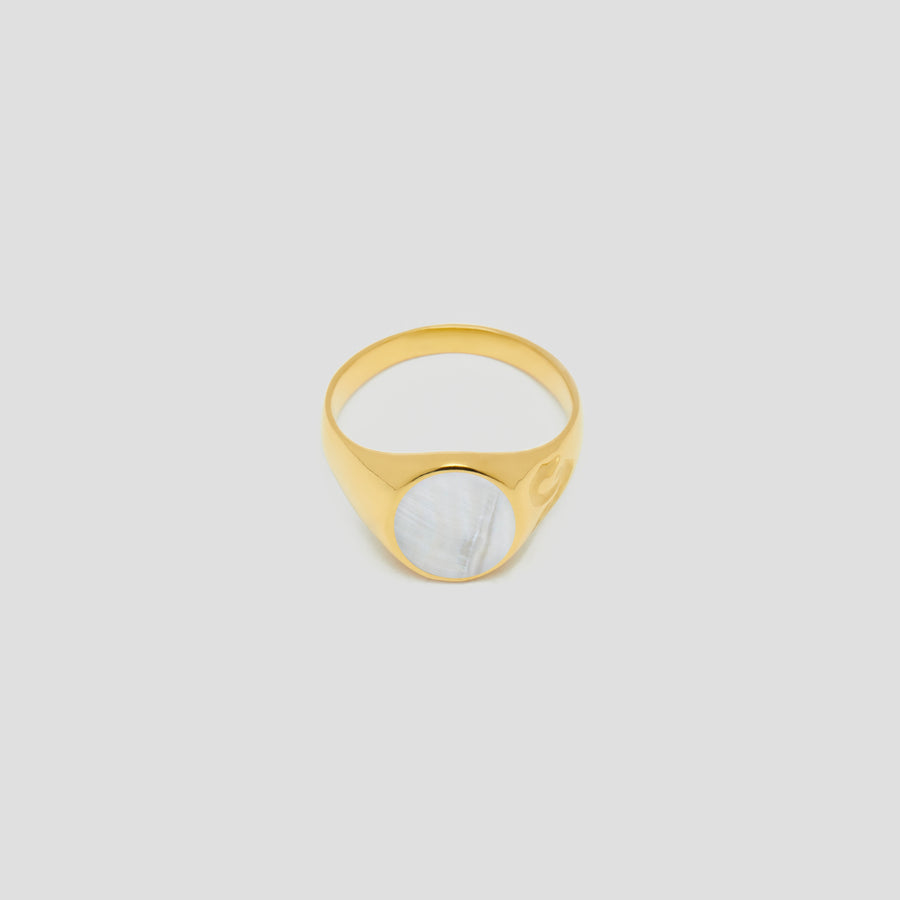 Swan Signet in 14k Yellow Gold by Breana Helders