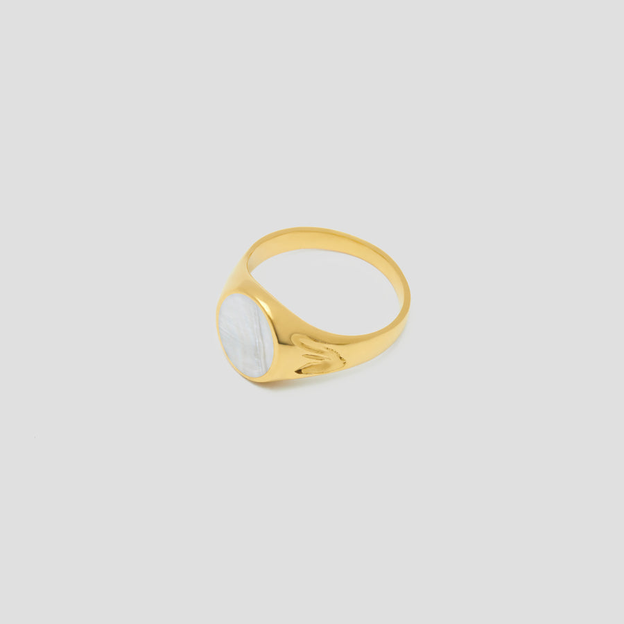 Swan Signet in Vermeil Gold by Breana Helders