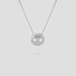 Silver Button Pendant