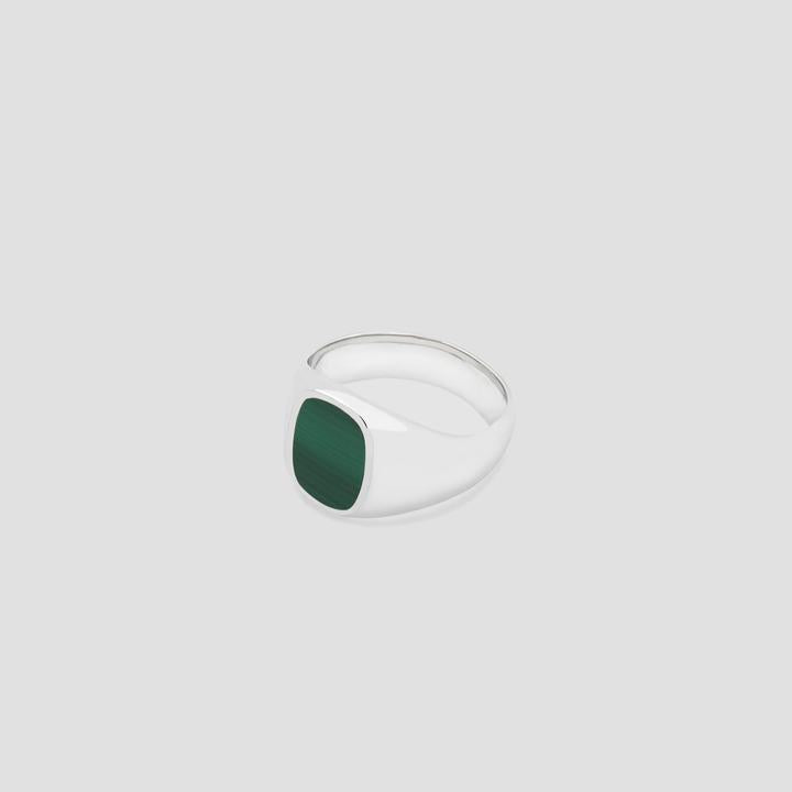 Elipse in Silver with Malachite