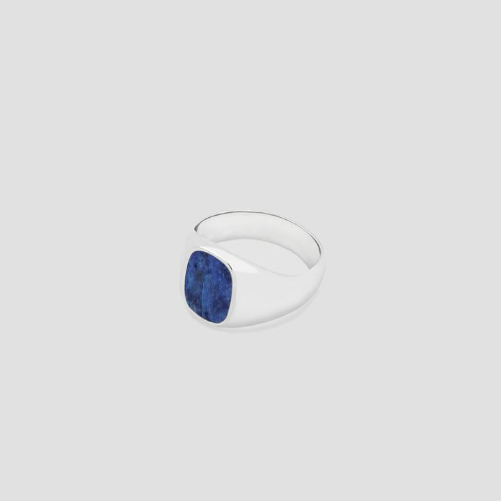 Elipse in Silver with Lapis