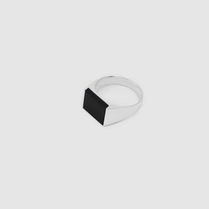 Silver Rectangle Onyx