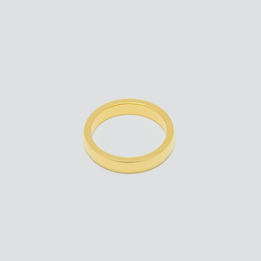 Womens Wedding Band - Rectangular in 14k Yellow Gold