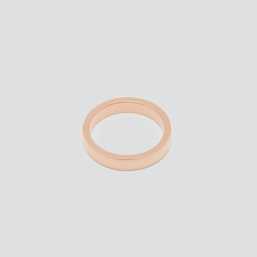 Womens Wedding Band - Rectangular in 14k Rose Gold