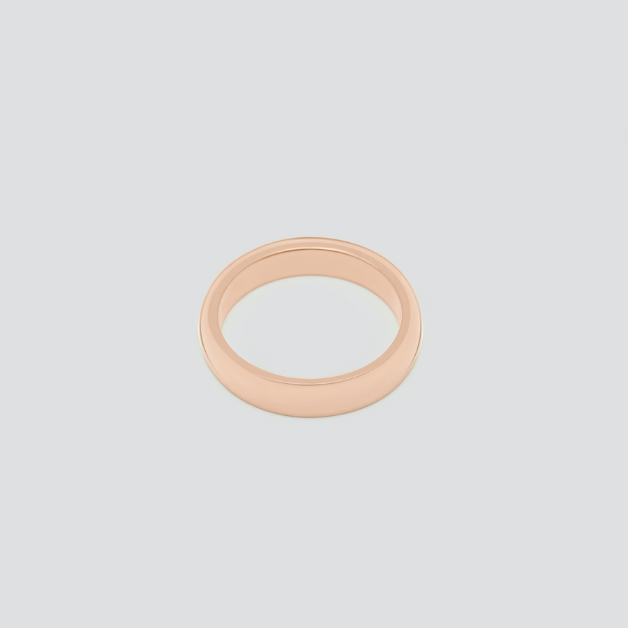 Wedding Band - Rounded in 14k Rose Gold
