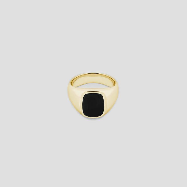 Elipse in Gold with Onyx