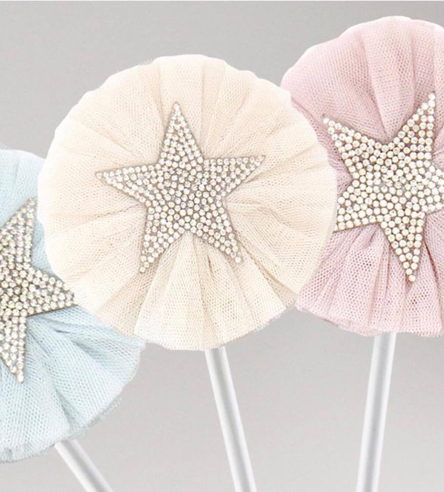 Tulle Sparkle Star Wand - Petit Luxe Bebe