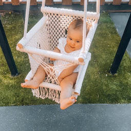 HAND CRAFTED MACRAME BABY SWING