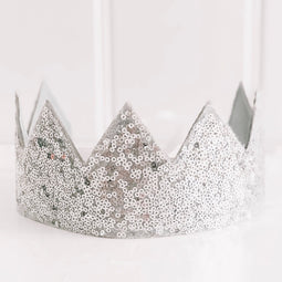 Alimrose Silver Sequin Crown