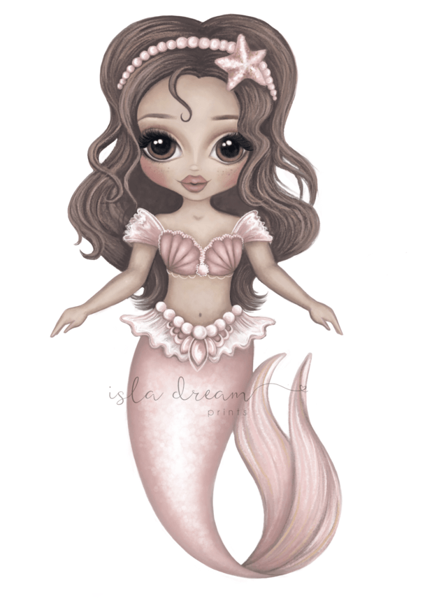 ARISTA THE MERMAID - Childrens's Art Print - Petit Luxe Bebe