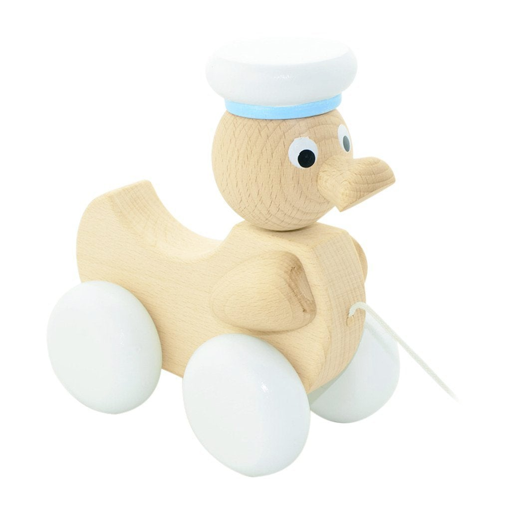 Austin - Wooden Pull Along Toy Duck - Petit Luxe Bebe