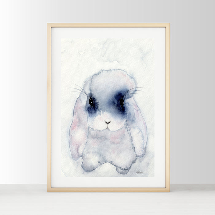 Nursery Decor Watercolour Wall Art Print - Bunny