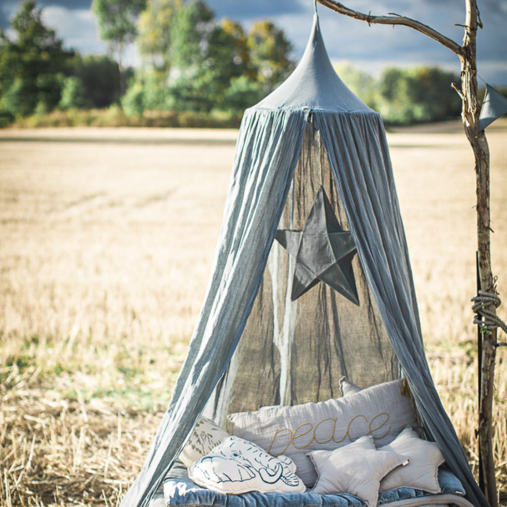 Numero 74 Cot Canopy Ice Blue - Petit Luxe Bebe