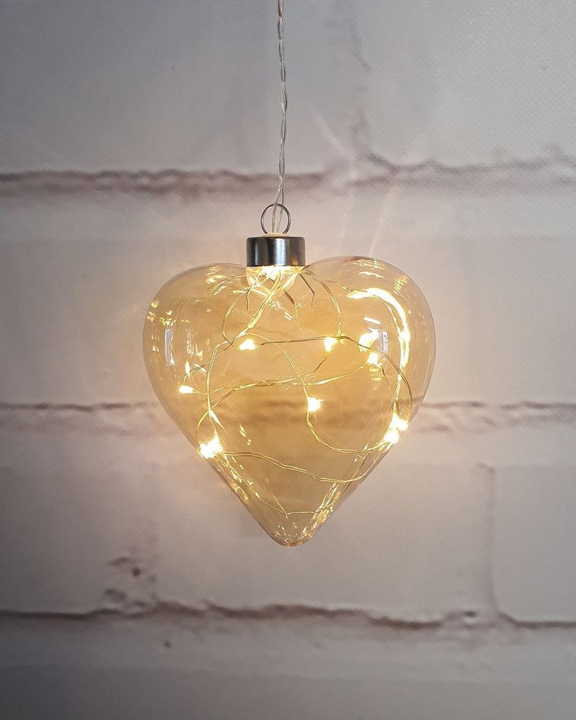 Champagne Glass Heart Hanging Light - Petit Luxe Bebe