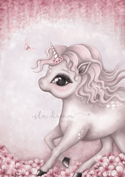 Cinnamon The Unicorn Children's Art Print