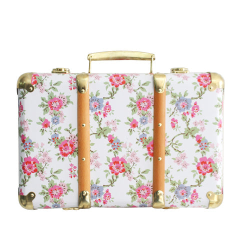 Alimrose Vintage Style Carry Case - Cottage Rose - Petit Luxe Bebe