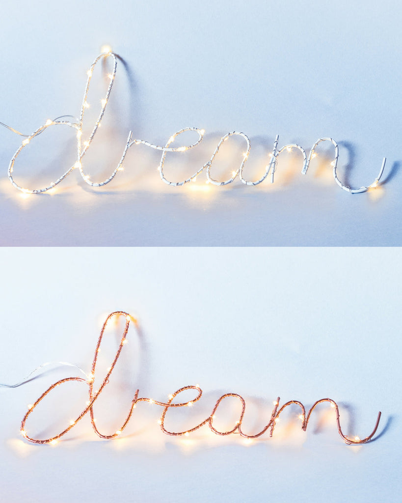 DREAM Wall Light - Rose Gold or White - Petit Luxe Bebe