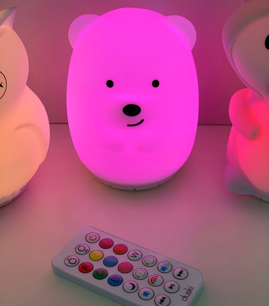 Duski Rechargeable Bluetooth Nightlight - Bear - Petit Luxe Bebe