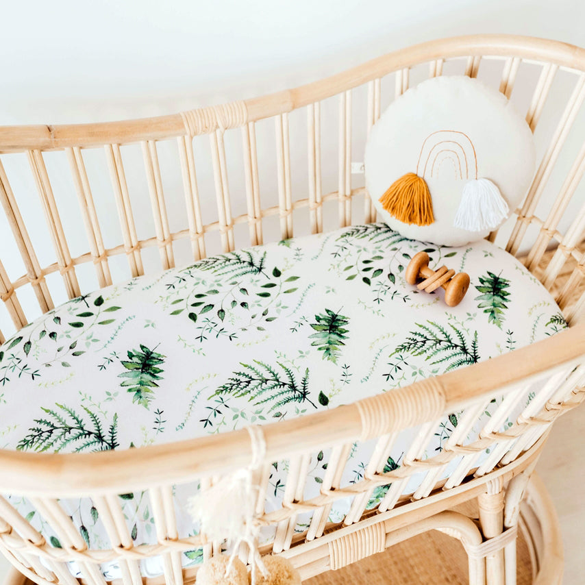 Fitted Bassinet Sheet | Change Pad Cover - Enchanted - Petit Luxe Bebe