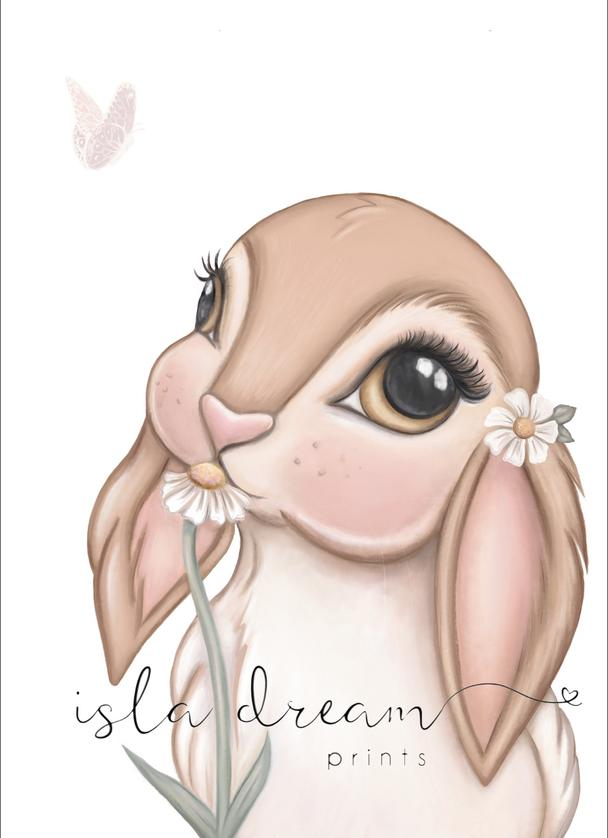 FAWN The Bunny Art Print - Petit Luxe Bebe