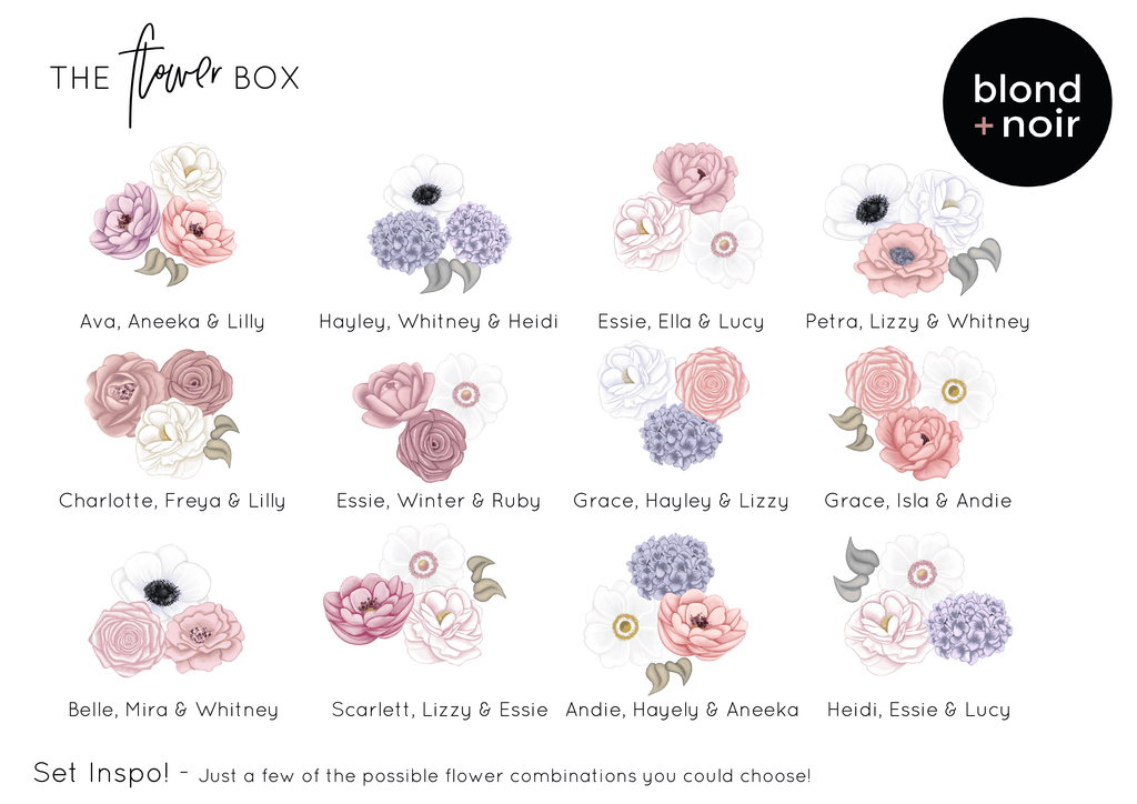 The Flower Box - Add On Leaves or Vines | Create Your Own Custom Floral Wall Decals! - Petit Luxe Bebe